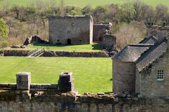 Craignethan城堡 库存图片