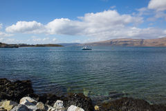 Craignure Isle of Mull Argyll and Bute Scotland uk coast view to ferry port and Morvern Royalty Free Stock Photography