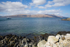 Craignure Isle of Mull Argyll and Bute Scotland uk coast view to Morvern. In spring royalty free stock photos