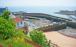 Crail harbor, Fife. Crail harbor in the East Neuk of the Kingdom of Fife Royalty Free Stock Images