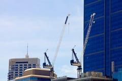Crain на новом месте constraction высотного здания Стоковая Фотография