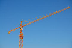 The crain and blue sky Stock Image
