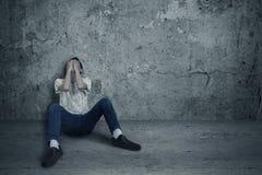 Crainte de consommateur de drogue Images libres de droits