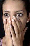 Crainte du témoin Image stock
