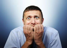 Crainte profonde d'homme d'affaires Image stock