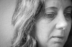 Crainte, solitude, dépression, abus Photos libres de droits