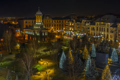 Craiova στις ημέρες των Χριστουγέννων Στοκ εικόνες με δικαίωμα ελεύθερης χρήσης