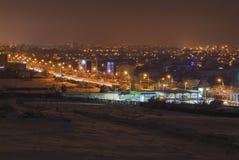 Craiova alla notte Fotografia Stock