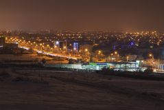 Craiova bij nacht Stock Fotografie