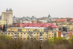 Craiova cityscape from above Royalty Free Stock Images