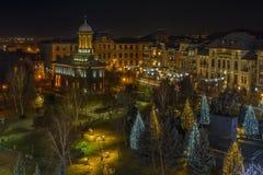 Craiova en días de la Navidad Imágenes de archivo libres de regalías