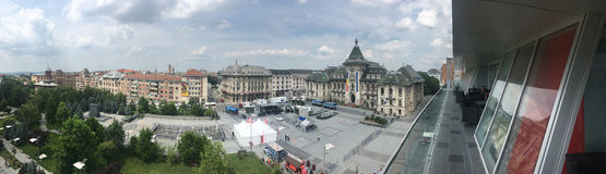Craiova-Mittepanorama, Rumänien Lizenzfreie Stockfotografie