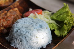 Crake rice with curry Stock Images