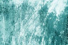 Craked resistiu à textura da parede do cimento no tom ciano fotos de stock royalty free