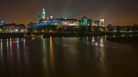 Crakow city in night. Royalty Free Stock Photography
