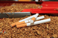 Cram cigarettes Stock Images