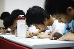 Cram school. Students of the junior high school studied for the exam on May 8, 2011 in Taiwan Royalty Free Stock Photography