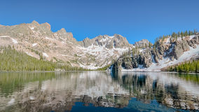 Cramer Lake reflection, Sawtooth National Recreation Area, ID Royalty Free Stock Photo