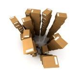 Crammed warehouse Stock Photos