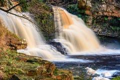 Crammel Linn Waterfall On River Irthing Stock Images