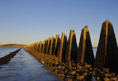 Cramond island causeway Royalty Free Stock Photos