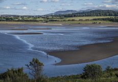 Cramond Island, Edinburgh, Scotland, the UK - the beach at low tide. This image shows a view Cramond Island, Edinburgh, Scotland, the UK. It was taken on a royalty free stock images