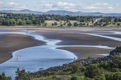Cramondeiland, Schotland, het UK - een mening van het omringende gebied stock foto