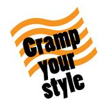 Cramp your style stamp on white. Background. Sign label sticker stock illustration