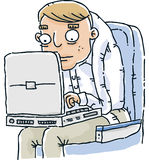 Cramped Laptop Stock Images