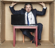 Cramped office at the workplace. Office situation stock photos