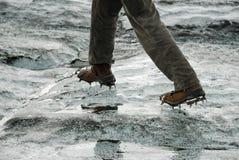 Crampons over glacier at Kverkfjoll, Iceland Stock Photography