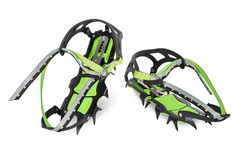 Crampons on white background Royalty Free Stock Photo