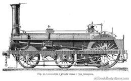 Crampton Steam Locomotive Stock Photography