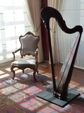 Harp and chair Royalty Free Stock Photography