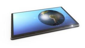 Écran et monde de Tablette Image stock