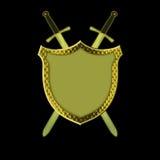 Écran protecteur avec des épées Image libre de droits