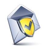 écran protecteur de courrier Photographie stock