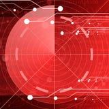 Écran radar rouge Photos stock