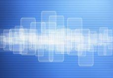 Écran tactile de panneau et fond de code binaire Photographie stock libre de droits