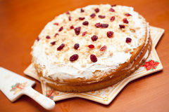 Cranberrie蛋糕 免版税库存图片