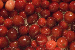 Cranberries. Cranberry sauce macro Royalty Free Stock Images