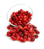 Cranberries in a bowl Stock Image