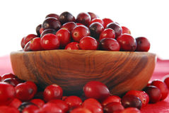 Cranberries in a bowl Stock Photography