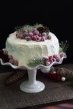 Cranberries Christmas Cake Stock Photo