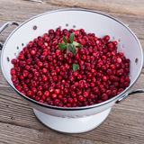 Cranberries in a colander Royalty Free Stock Images