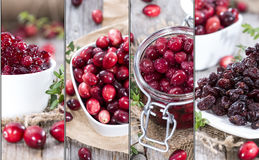 Cranberries Collage Royalty Free Stock Photos