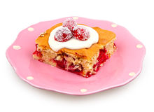 Cranberries dessert Royalty Free Stock Image