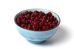 Cranberries in dish Stock Image