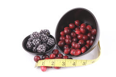 Cranberries and Frozen Blackberrie Stock Image