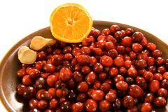 Cranberries, Ginger & Orange Royalty Free Stock Photo